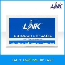 LINK US-9015M CAT 5E UTP PE OUTDOOR แบบมีสลิง w/Drop Wire (Single Jacket) Black 305 M./Reel สายนำสัญญาณ Network Cable & Tools