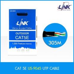 Link US-9045 สาย UTP แบบ CAT5E สำหรับเดินภายนอกอาคาร OUTDOOR (Double Jacket) สาย LAN แบบ Cat 5E