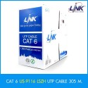 Link US-9116LSZH CAT6 ULTRA UTP Low Smoke Zero Halogen Cable Filler (600MHz) LSZH สายนำสัญญาณ Network Cable & Tools