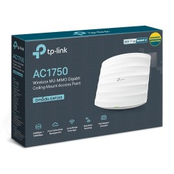 TP-LINK EAP245 AC1750 Wireless Dual Band Gigabit Ceiling Mount Access Point รองรับ Controller Software Wireless AccessPoint (...
