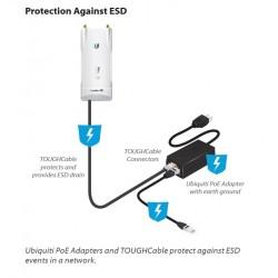 Ubiquiti Ubiquiti U-POE-af POE Injector802.3af 48VDC 0.32A 15.4W Port Gigabit, ปุ่ม Reset