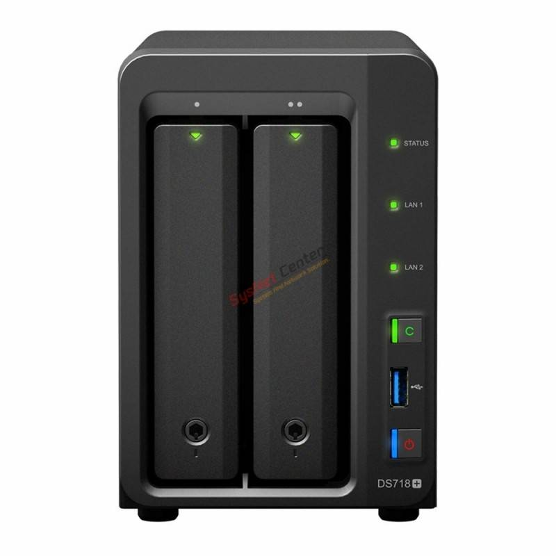 Synology Synology DS718+ NAS Network Attatch Storage 2Bay สูงสุด 32TB Backup และ Share ข้อมูล