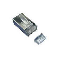 Amp AMP AM-3006 CAT6 RJ45 MODULAR PLUG (ตัวผู้ 8 ขา), for UTP (Unshield)