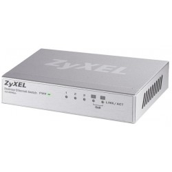 ZyXel Home ZyXEL ES-105A Switch 5 Port ความเร็ว 10/100 Mbps SOHO Palm size switch with autoMDIX (2QoS Port)
