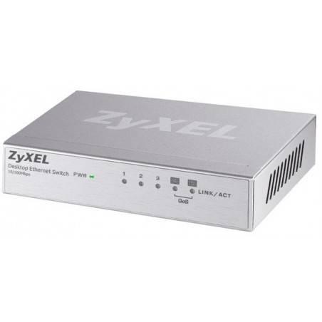 ZyXEL ES-105A Switch 5 Port  ความเร็ว 10/100 Mbps SOHO Palm size switch with autoMDIX (2QoS Port)