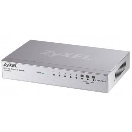 ZyXEL ES-108A Switch 8 Port  ความเร็ว 10/100 Mbps SOHO Palm size switch with autoMDIX (3QoS Port)