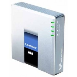 Linksys PAP2T Internet Phone Adapter 2 Ports FXS 1 Port Lan VOIP / IP-PBX ระบบโทรศัพท์แบบ IP