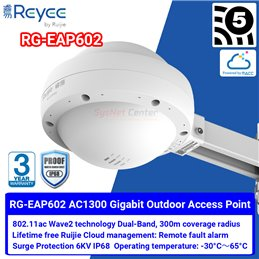 Ruijie Networks Reyee RG-EAP602 Outdoor Wireless Access Point ac Wave 2, Port Gigabit, Cloud Control