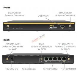 Peplink Peplink Balance 20x VPN Router, PepVPN 5 Tunnels Throughput 900Mbps, WIFI ac, 4G LTE