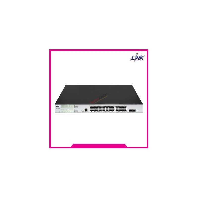 Link LINK PSG-5124 24 Port L2 Managed GIGABIT PoE SWITCH 400W