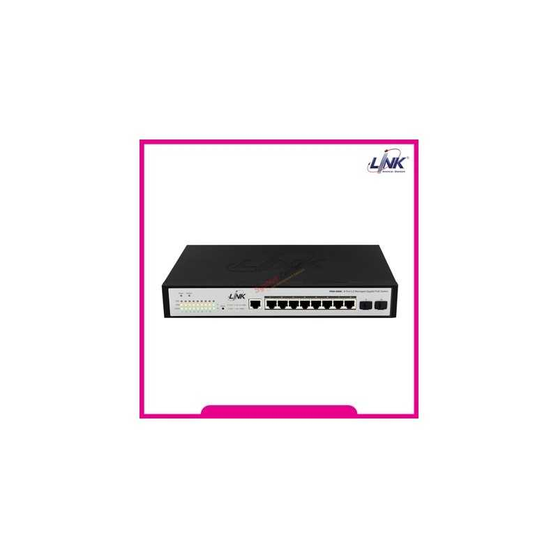 Link LINK PSG-5008 8-Port L2 Managed Gigabit PoE Switch (70W)