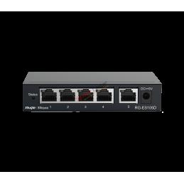 Reyee RG-ES105GD Gigabit Switch 5 Port แบบ Desktop Case เหล็ก