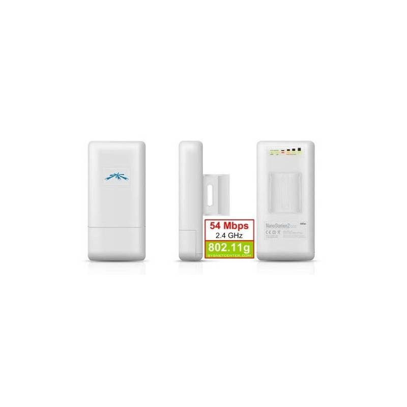 UBiQUiTi NanoStation LOCO2 Outdoor Wireless A/P 2.4 GHz 54 Mbps,100 mW