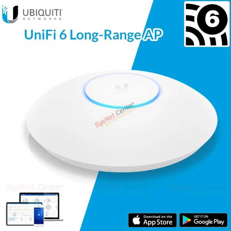 Ubiquiti Ubiquiti UniFi 6 Long-Range Access Point (U6-LR-US) Wi-Fi 6 AP Wireless ax 4x4 MIMO