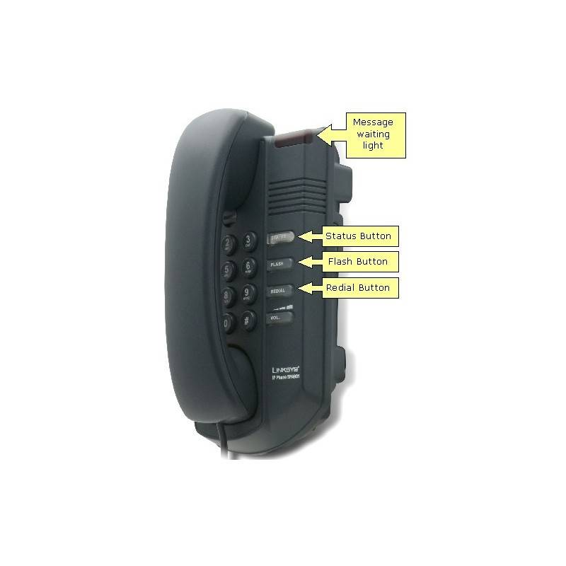 Linksys SPA901 IP-Phone, 1 Port Lan 10/100
