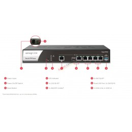DrayTek DrayTek Vigor2962 Dual-WAN Load Balance VPN Router รองรับ Internet 2.2Gbps