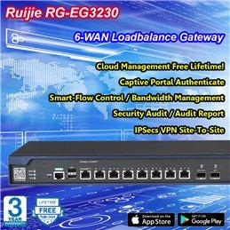 Ruijie RG-EG3230 Unified Security Gateway 6 Wan Gigabit, VPN, Firewall, L7 DPI
