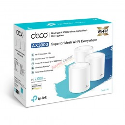 TP-Link TP-LINK Deco X60 (Pack-3) AX3000 Whole Home Mesh Wi-Fi System