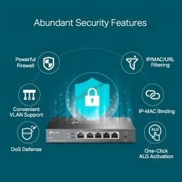 TP-Link TP-LINK ER605 Omada Gigabit VPN Router, IPSec VPN PPTP, L2TP
