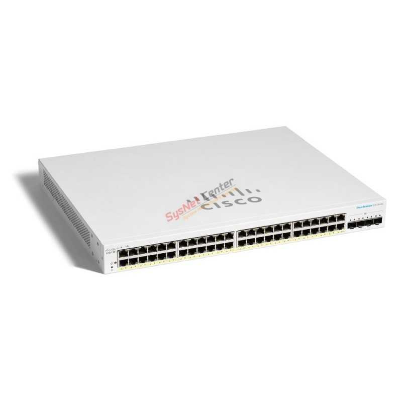 Cisco Cisco CBS220-48FP-4X L2-Managed Gigabit POE Switch 48 Port, 4 SFP+