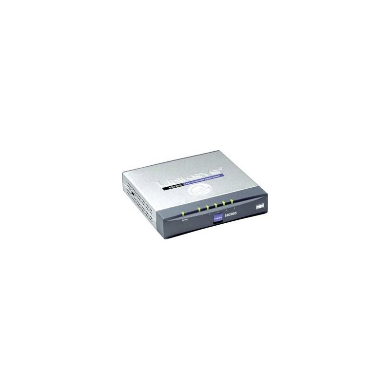 Gigabit (10/100/1000Mbps) LINKSYS SD2005 Switch 5 PORT 10/100/1000Mbps GIGABIT SWITCH