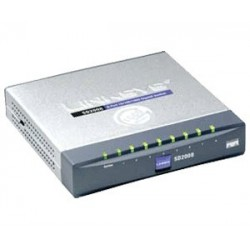 Gigabit (10/100/1000Mbps) LINKSYS SD2008 Switch 8 PORT 10/100/1000 GIGABIT SWITCH