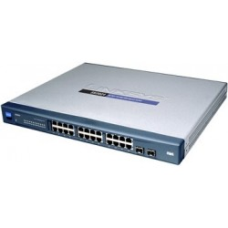 Gigabit (10/100/1000Mbps) LINKSYS SR2024 Switch 24 PORT 10/100/1000 GIGABIT SWITCH + 2 Mini-GBIC