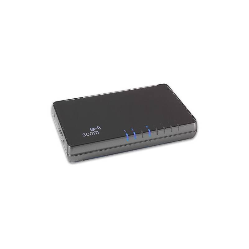 3Com® 3CGSU08A (HP V1405-8G) Gigabit Desktop Switch 8 Port 10/100/1000Mbps