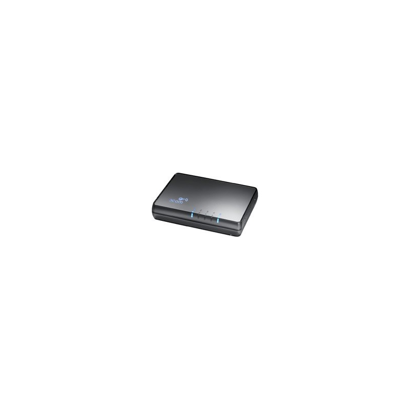 3COM® 3CFSU05 (HP V1405-05) Fast Ethernet Switch 5 Ports ความเร็ว 10/100Mbps Unmanaged Switches