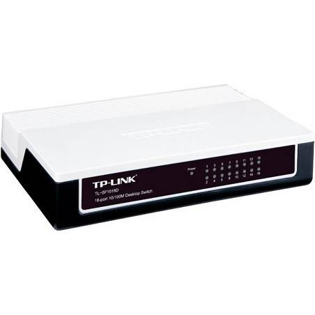 TP-LINK TL-SF1016D - 16-port Unmanaged 10/100M Desktop Switch