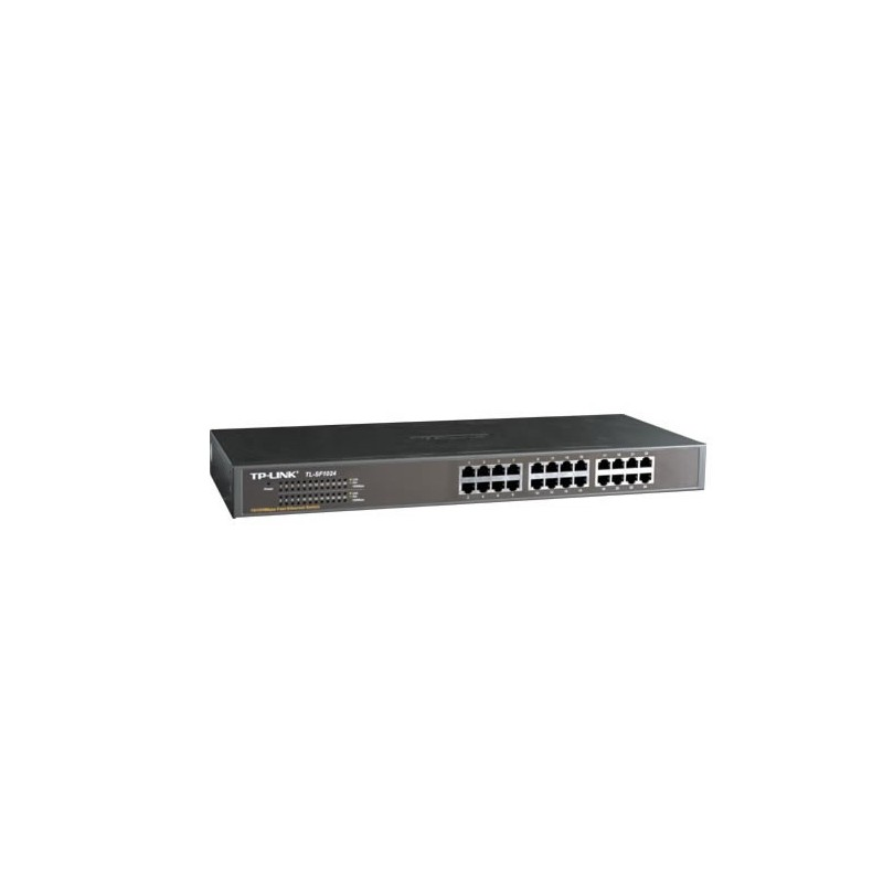 TP-Link ขนาด 24, 48 Port TP-LINK TL-SF1024 Unmanaged Rackmount Switch ขนาด 24 port ความเร็ว 10/100Mbps