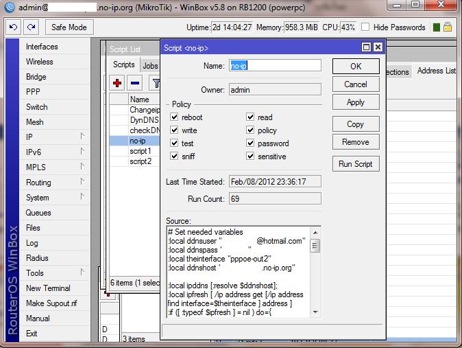 การ Set Dynanic DNS บน Mikrotik โดยใช้ Service No-IP in อุปกรณ์