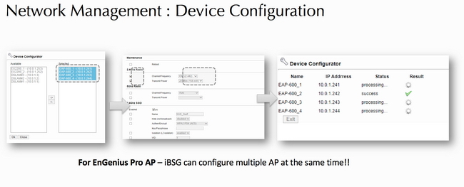 ibsg network management device configuration