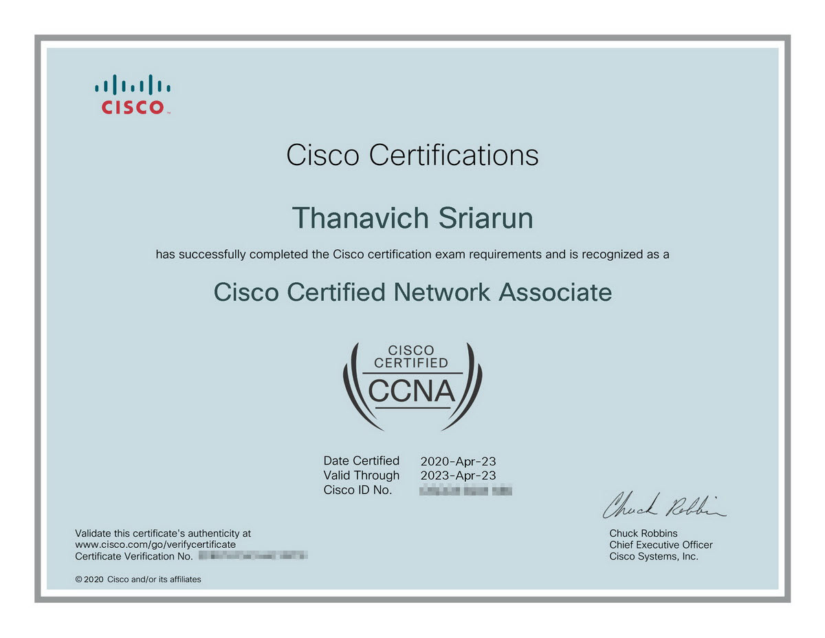 cisco ccna certified
