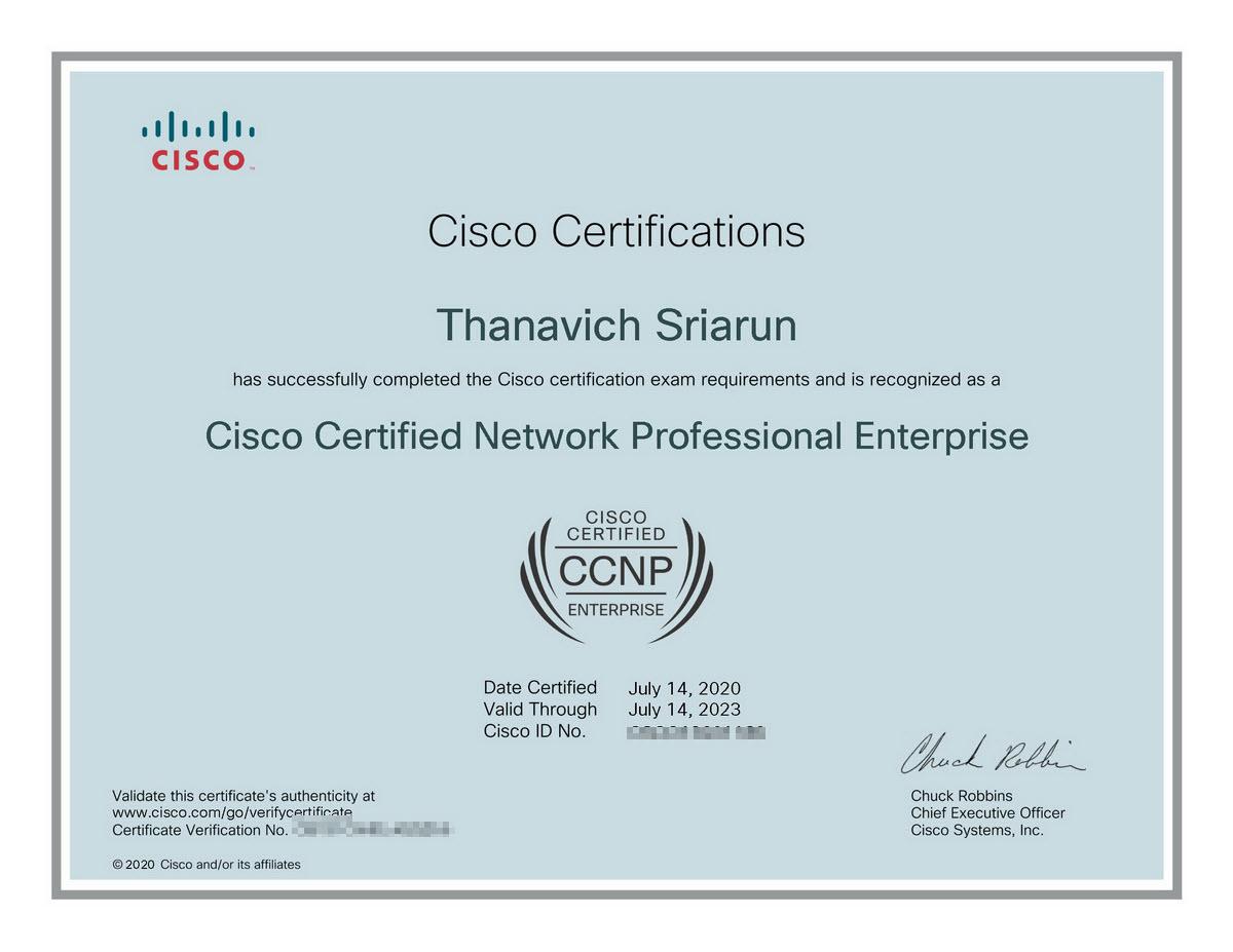 cisco ccnp enterprise certified