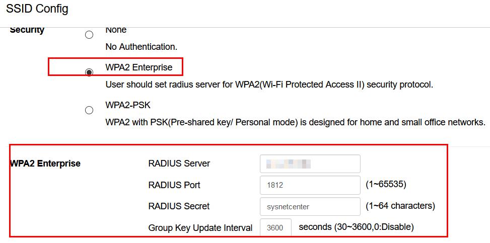 radius server aws