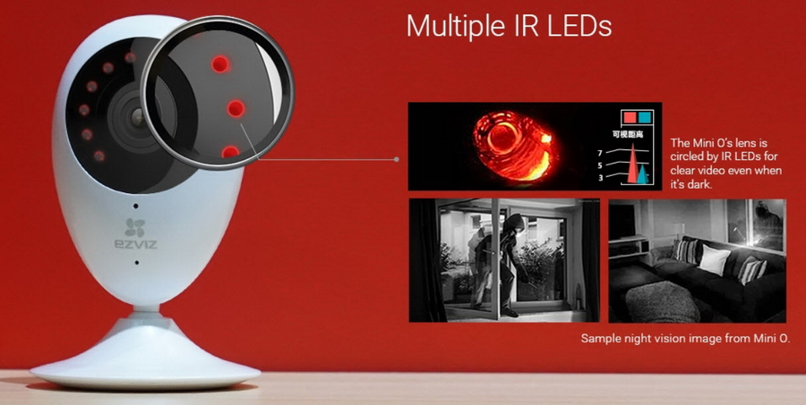 ezviz ip wifi camera multiple ir leds