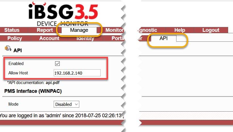 iBSG API
